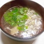 真鯛の「カブト焼き」と「澄まし汁」