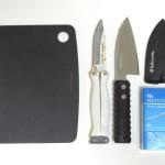 釣り用「ナイフ」と「出刃包丁」と「まな板」
